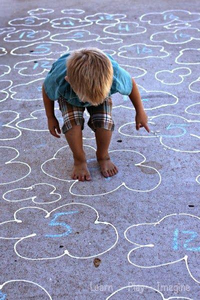 Gross motor number recognition game kids will LOVE! #KneeBouncersPlay