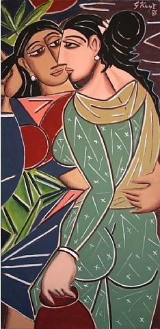 artnet Galleries: The Lovers by George Keyt from Sundaram Tagore Gallery