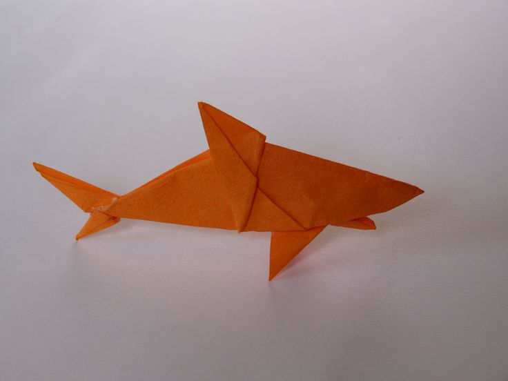 Shark model by Scott Turner. Here's the tutorial videos for folding my original origami shark model. This is my hardest fold, and requires one cut.