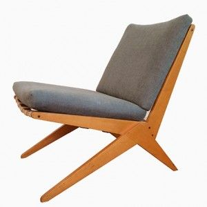 Scissor Chair by Pierre Jeanneret for Wohnbedarf