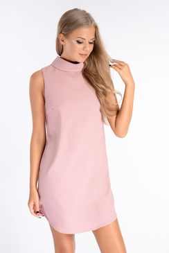 Tamsin Mauve Turtle Neck Shift Dress