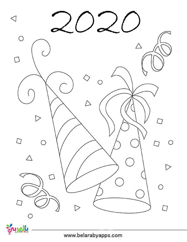 Top 10 New Year 2020 Coloring Pages Free Printable بالعربي نتعلم New Year Coloring Pages Coloring Pages Free Coloring Pages