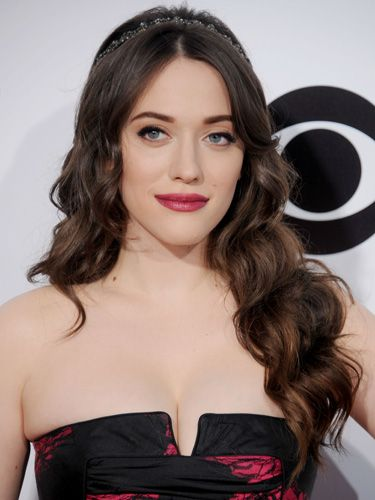 Kat Dennings date hairstyle ideas - valentine's Day hair ideas - sexy hairstyles to copy - celebrity hair pictures - Cosmopolitan.co.uk