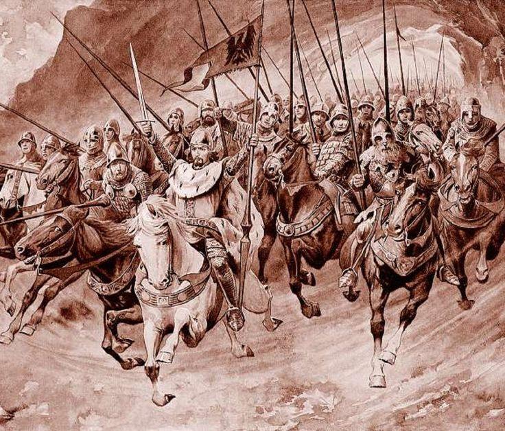 Illustration Věnceslav Černý . Blaničtí rytíři