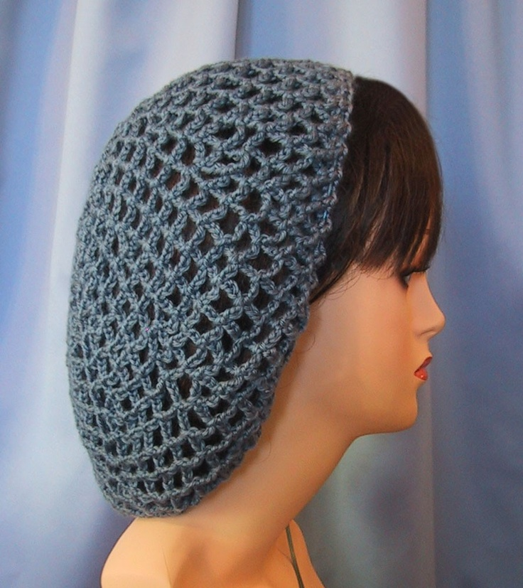 Crochet Hair Net Pattern : Crocheted Snood Hair Net Retro Renaissance Costume Civil War CountryB ...