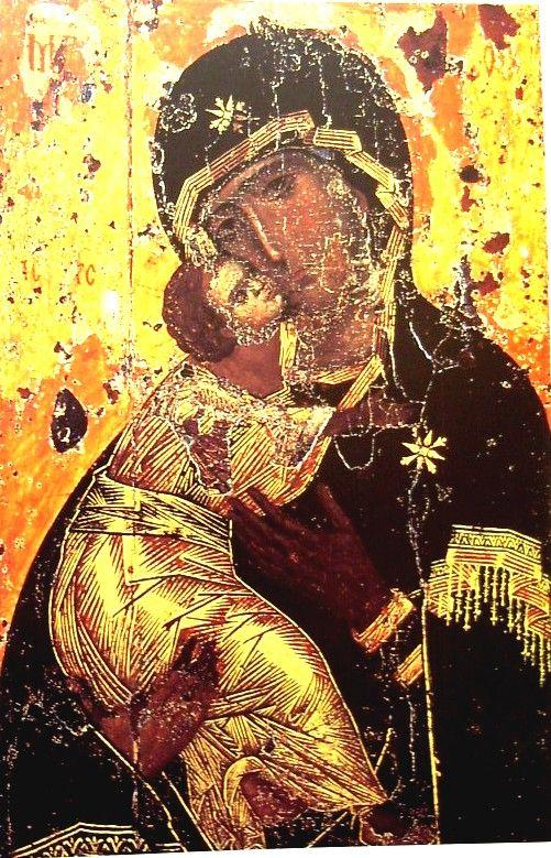 Vlagyimiri Istenszülő, 12. sz. eleje, Konstantinápoly. (Moszkva, Tretyakov Képtár)