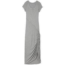 Dusky Shark Bite Dress - The classic T-shirt dress has gone to maxi length with a shirred hem you can cinch to your length of choice.