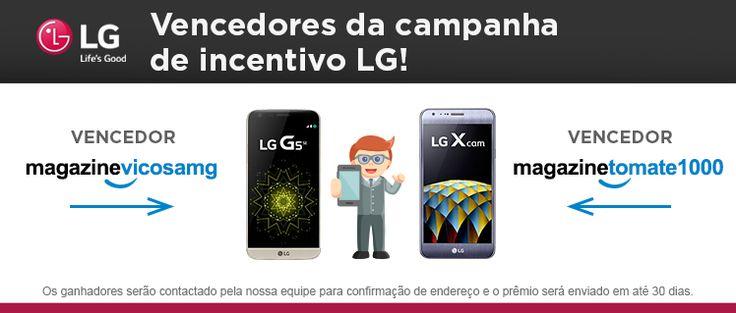 Ganhadores da campanha de incentivo LG