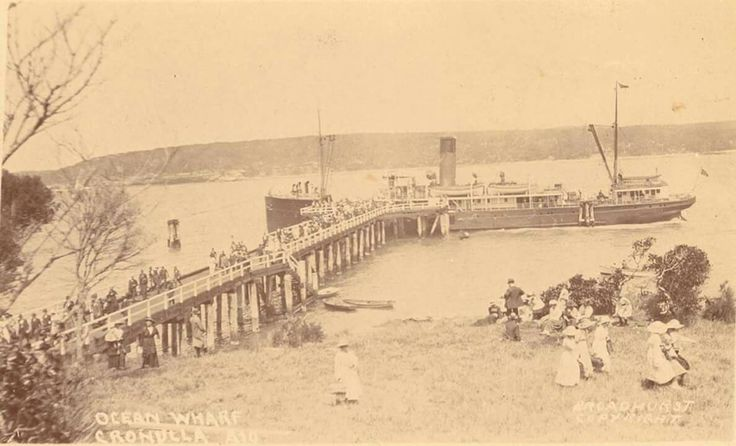 Ocean Wharf at Cronulla,in southern Sydney.Salmon Haul Bay at Bass and Flinders Point (year unknown).