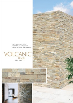 Volcanic Rock - Split Face M Stone | 6x24 (Hard Limestone) Ledge Stone Panels tropical fireplaces