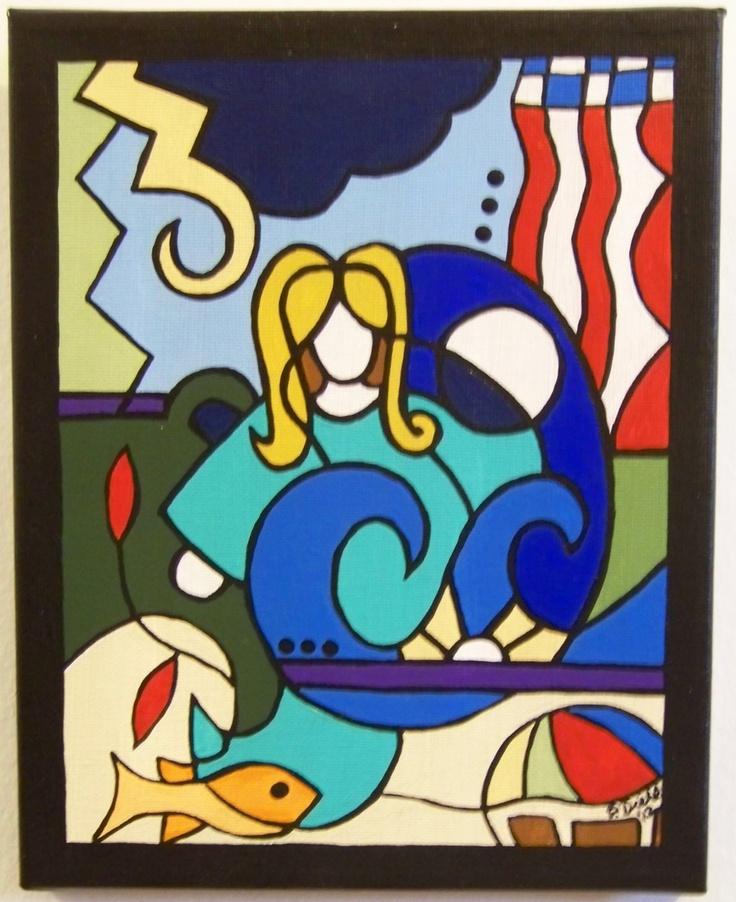 #Goddess of #Summer - Acrylic #Painting #art #handmade #thecraftstar $30.00