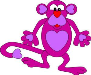 heart monkey paper craft #ValentinesDay #crafts