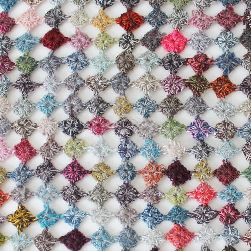 Sophie Digard / Wool Pellet Motif Scarf / Multi / - taste&touch ウェブショップ