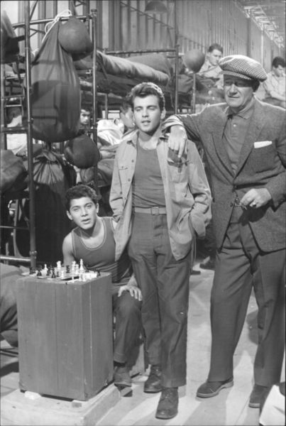 With Fabian and Paul Anka on the set of The Longest Day (1962)