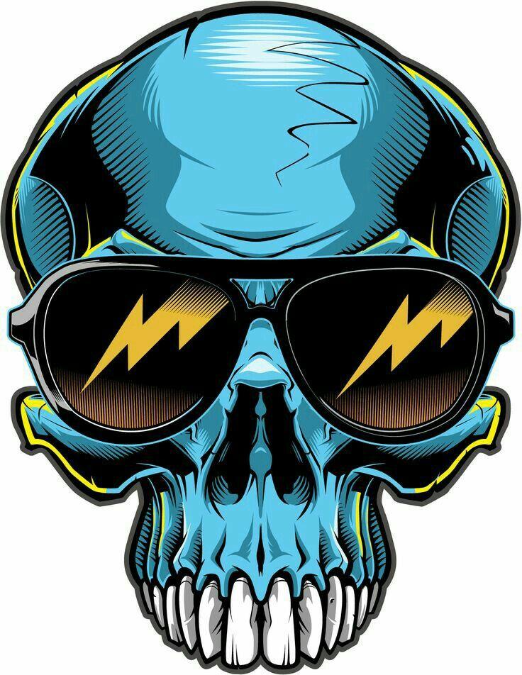 Blue Skull sun glasses