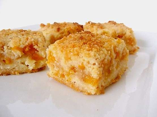 Peach crumb bars | Recipes | Pinterest