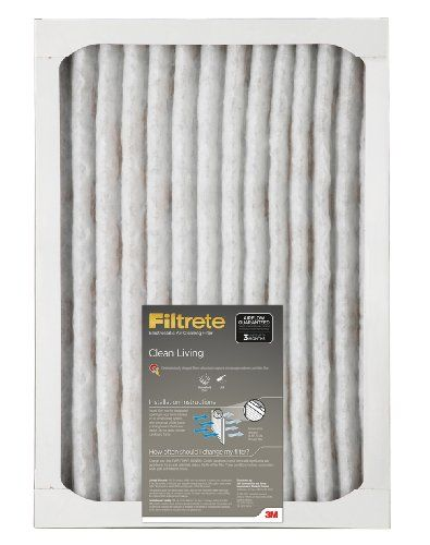 Filtrete Clean Living Filter, 20-Inch by 25-Inch b  Helpful Review   -   Filtrete Clean Living Filter, 20-Inch by 25-Inch by 1-Inch, 6-Pack was  made  by 3M and  shown  on Amazon with $31.74.  Today ,  I   would like  to  inform  you this  product  is  selling  for $33.44 USD brand new..  There are only 11  items  left  brand  new. Buy Filtrete Clean Living Filter,... - http://gopher.arvixe.com/~reviews/filtrete-clean-living-filter-20-inch-by-25-inch-b-helpful-review/
