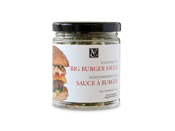 BIG BURGER SAUCE: A must-have for burgers, oven fries, sandwiches, grilled meats, and dipping! Delicious with wraps, potato wedges, and chips too. Low in calories and sodium compared to fast-food sauces. Simply mix with mayo, ketchup, and a hint of relish. #glutenfree #nutfree