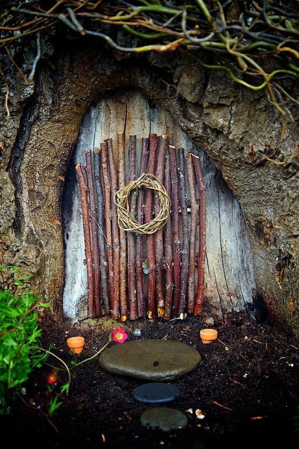 17 Best ideas about Fairy Garden Doors on Pinterest Diy fairy