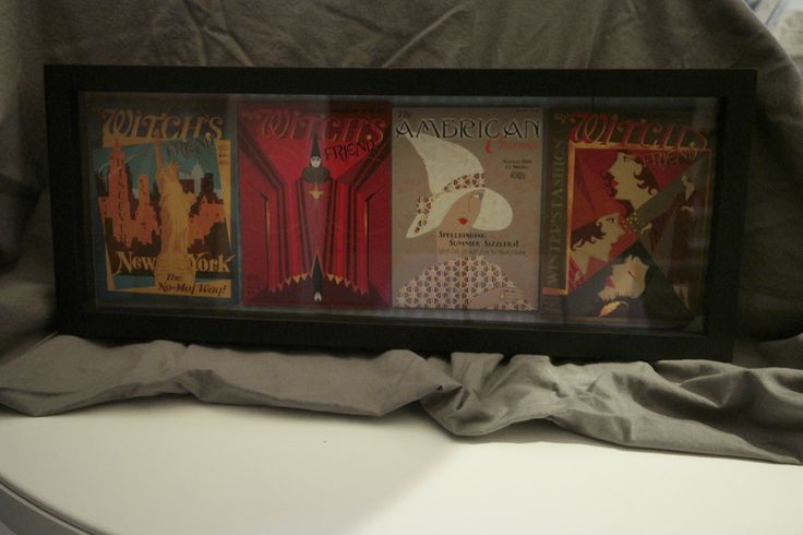 """Fantasic Beasts Harry Potter Witchs Fashion Magazie Covers Shadow Box 8.5""""x20"""" by CuriousImpossible on Etsy"""