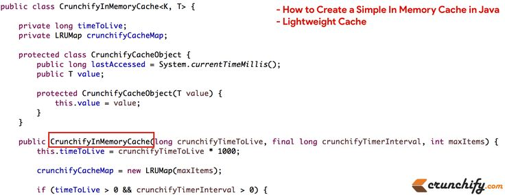 How to Create a Simple In Memory Cache in #Java (Lightweight Cache) https://crunchify.com/how-to-create-a-simple-in-memory-cache-in-java-lightweight-cache/