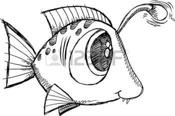 Sketch Doodle poissons photo