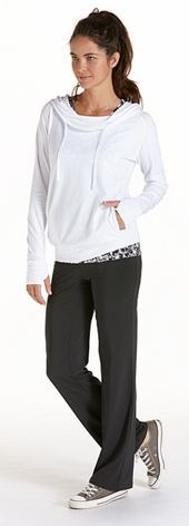 ZnO Cowl Neck Pullover Outfit with sunscreen!