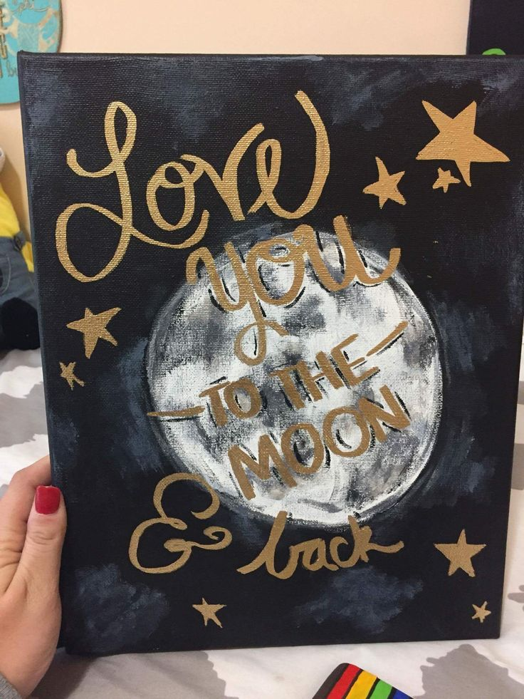 Love you to the moon and back canvas U of SC Gamma Phi Beta