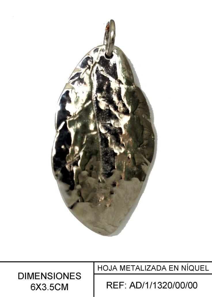 Hoja metalizada en níquel, para aplicación en accesorios