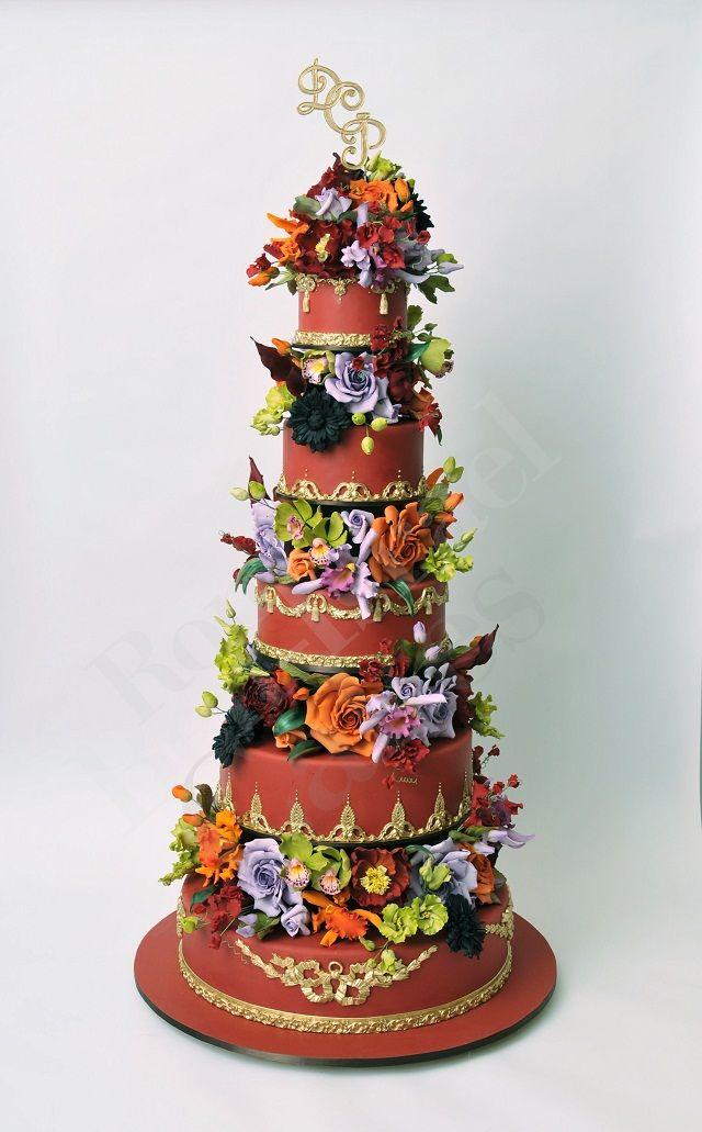 Glamorous Fall Wedding Cake By Ron Ben Israel