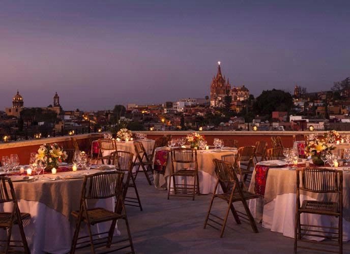 Rooftop Wedding at the Rosewood,   San Miguel de Allende, Guanajuato, Mexico