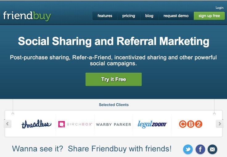 Friend Buy   Social Sharing and Referral Marketing tool used by Red Balloon