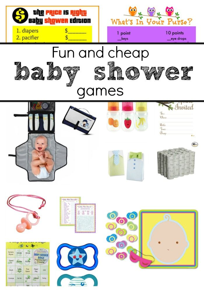 free and cheap baby shower games to play at a boy or girl baby shower