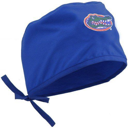 NCAA Florida Gators Royal Blue Scrub Cap by Football Fanatics. $19.95. Drawstring closure. Made in Mexico from American fabric. 65% Polyester/35% Cotton. Team colors and logo. Quality embroidery. Florida Gators Royal Blue Scrub CapQuality embroideryOfficially licensed collegiate productDrawstring closure65% Polyester/35% CottonMade in Mexico from American fabricTeam colors and logoQuality embroideryTeam colors and logoDrawstring closureMade in Mexico from American fabric65% Pol...