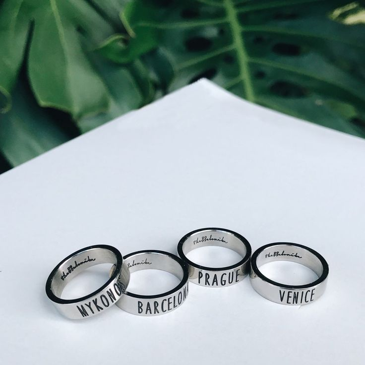 It's always a good time to travel. #Thessalonike Stackable Travel Rings. shopthessalonike.com