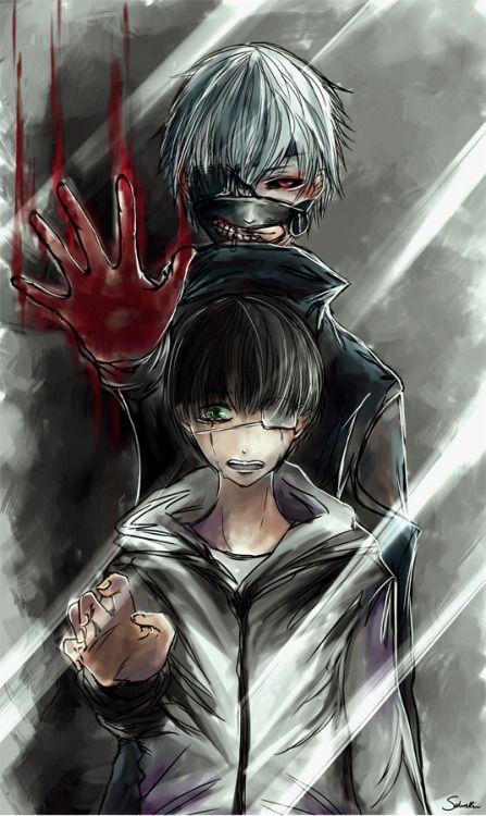 Tokyo Ghoul! Un dibujo intenso y espectacular.