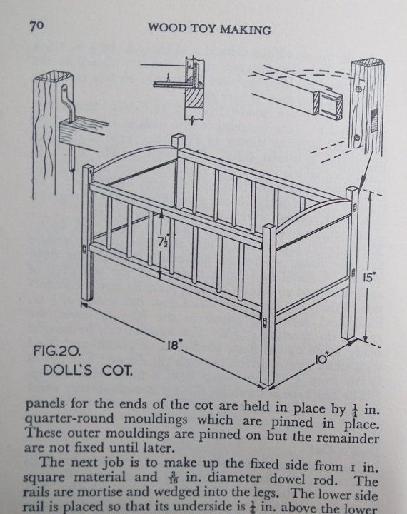 Vintage 1950s woodworking book - wooden toys for girls and boys. Includes doll furniture.  Wood Toy Making  by W. A. G. Bradman  Foyles Handbooks Series  Published by W. & G. Foyle Ltd, London (UK)  Initially published in 1951, this is the Third Reprint dated 1957     Sold by 'Rummage Romy' vintage shop on etsy - https://www.etsy.com/uk/shop/RummageRomy?ref=hdr_shop_menu