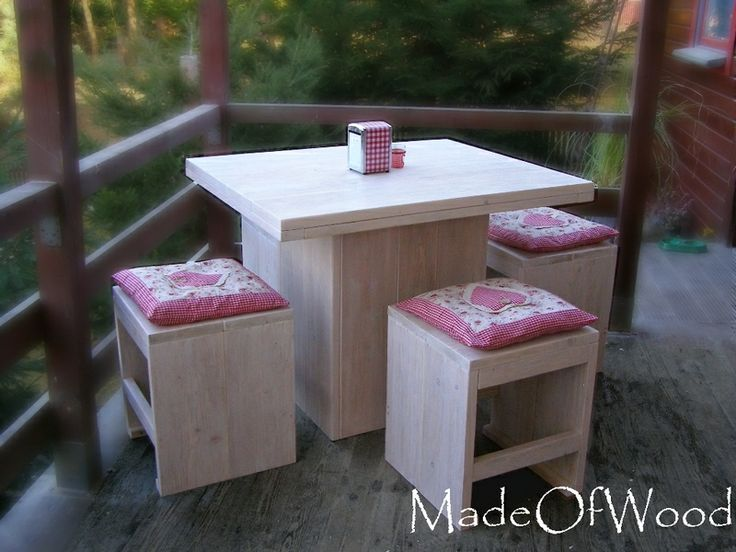 square table with 4 stools