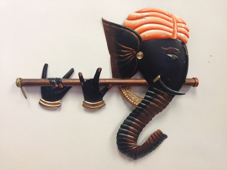 - Bring good luck and ward off all your Vighnas with this auspious wall hanging having lord Ganesha. It is made from Wrought Iron which reflects the artistic brilliance and it adds elegance to your de
