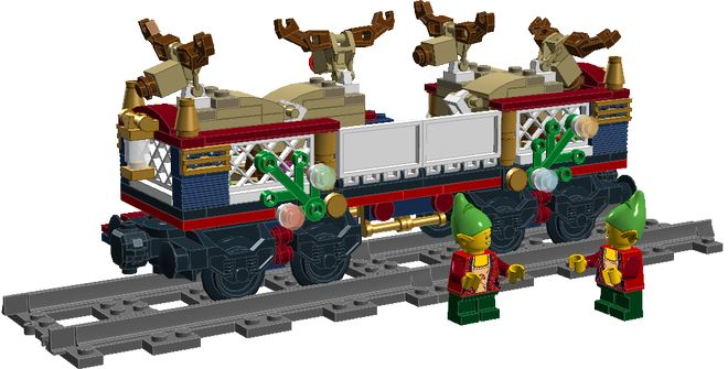 The Reindeer Car expansion set. While Santa's Reindeer's usual mode of travel is by air, all that flying requires a lot if energy and the reindeer like to relax on occasion.  ...