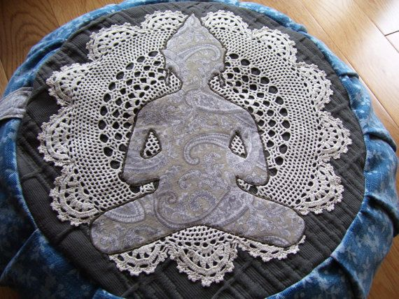 buddha applique meditation cushion / zafu