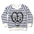 crew sweater stripe happy face by minti $49.95