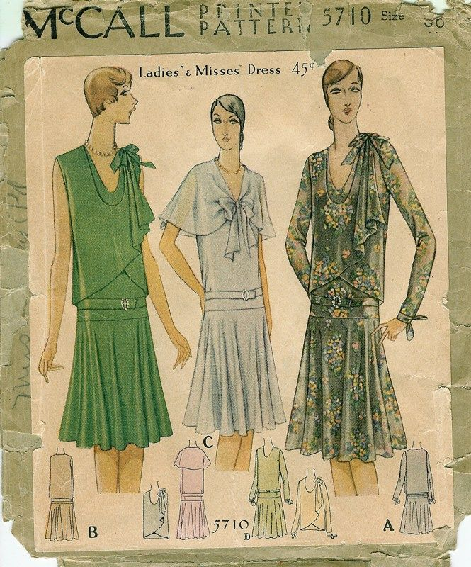 Patterns - Women's Dresses - Daytime 1930-32