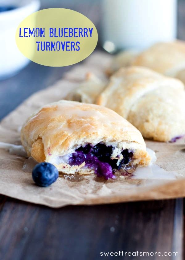 Lemon blueberry turnovers - easy using crescent rolls. Yum!