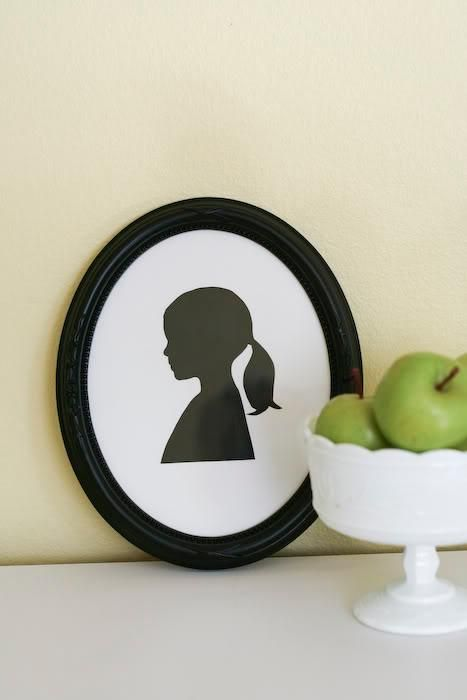 DIY Home Decor Wall Art: Make your own silhouette picture frame wall art