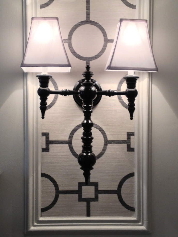 Dunes U0026 Duchess Sconce On Phillip Jeffries Wallpaper   Tobi Fairleyu0027s Room,