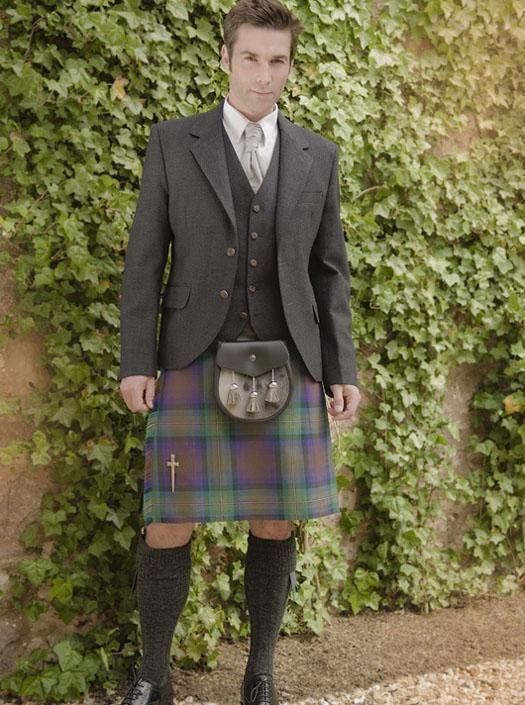 The Kinloch Anderson Day Kilt Jacket in Charcoal Grey Tweed | Kinloch Anderson