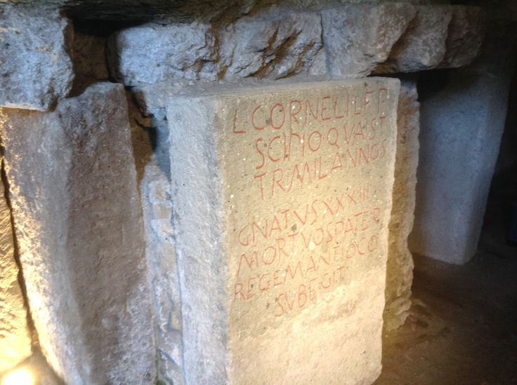 Tomb of the Scipios, gravestone