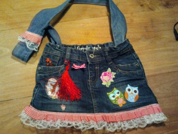 old skirt becomes bag! recycling!