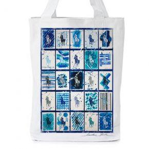 polo at the seaside I  Print with original artwork by Caroline Rovithi (www.caroline.gr)  WHITE ORGANIC FASHION TOTE BAG  - Climate Neutral®  100% Organic Cotton Twill Weave 170 g / 5.1 oz.  ONE SIZE : Width 36 x Height 42 x Depth 8 cm  @STORYMOOD #totebags #beachbags